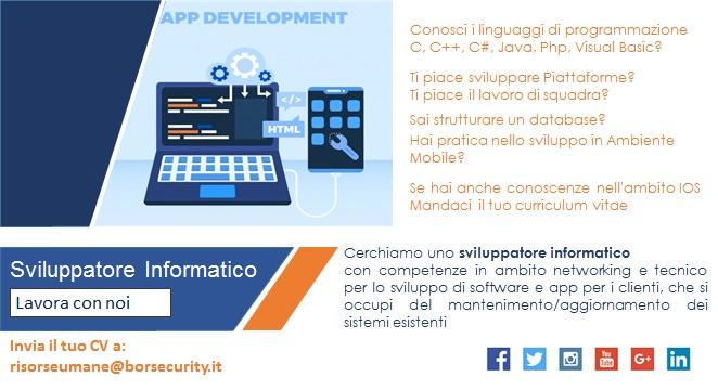 sviluppatore informatico