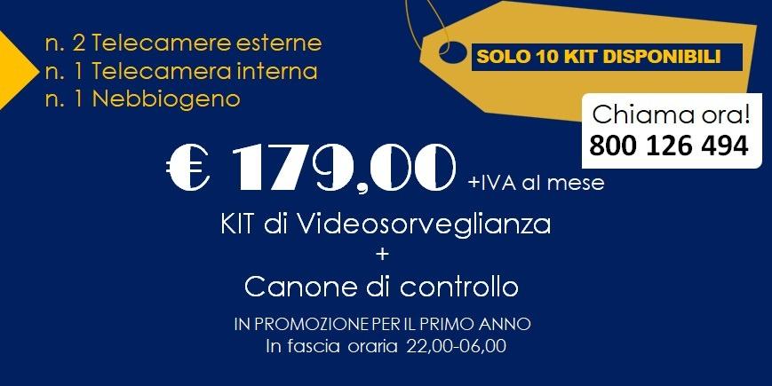 KIT di Videosorveglianza e servizio di portierato in promozione