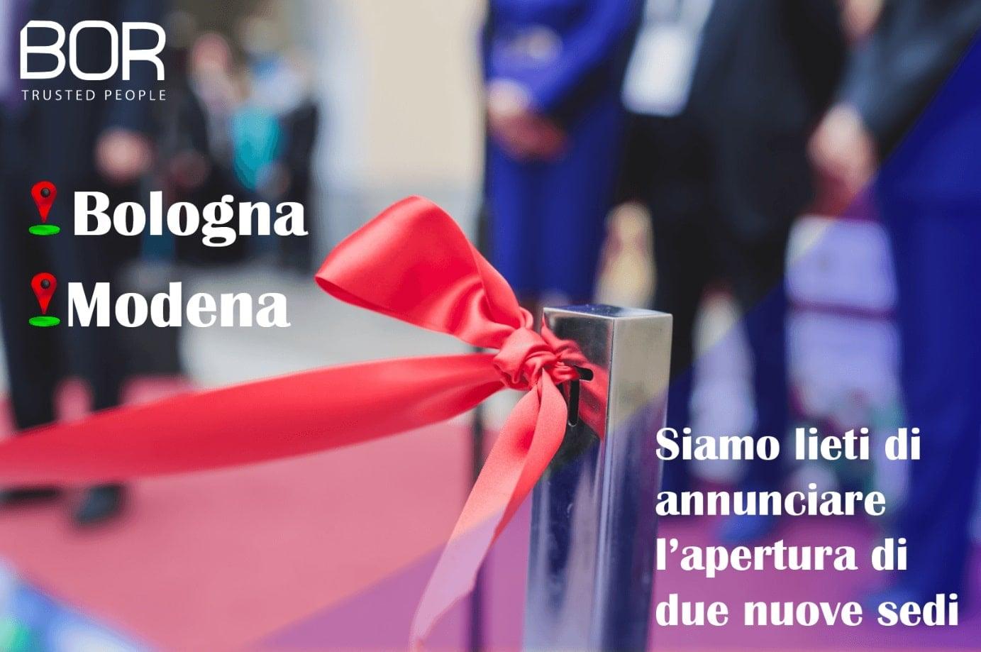 Apertura nuove sedi Modena e Bologna