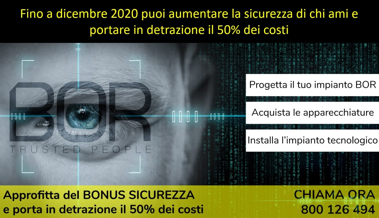 Bonus sicurezza 2020 per impianti di allarme: detrazione confermata dalla Legge di Bilancio