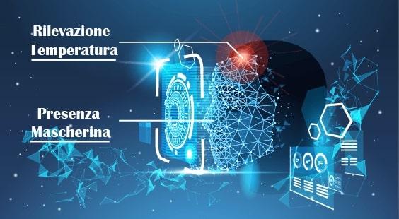 Sistema di controllo accessi con rilevazione della temperatura e conteggio delle persone