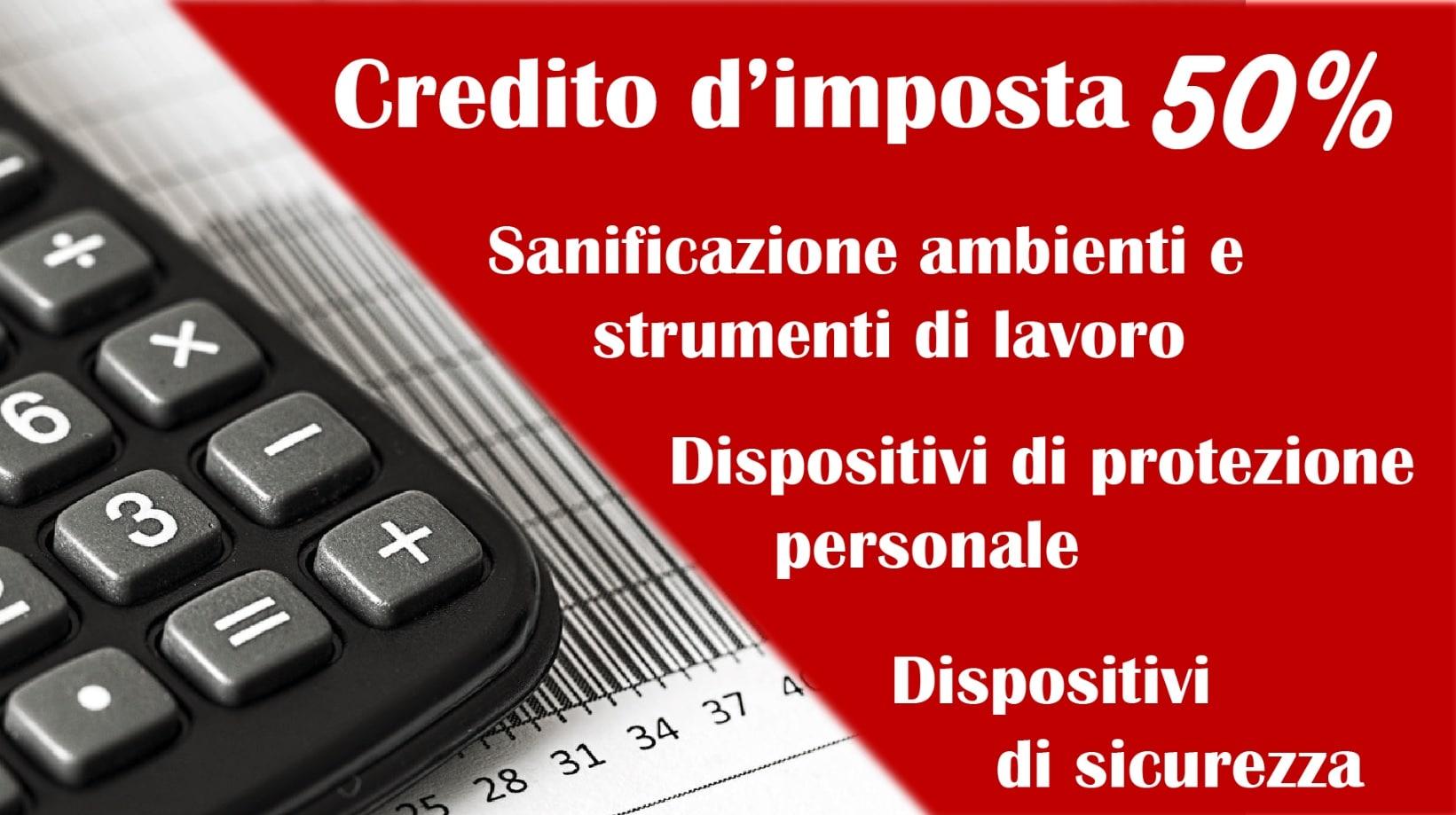 Fase 2: credito d'imposta per la sanificazione dei luoghi di lavoro e per l'acquisto di dispositivi di sicurezza