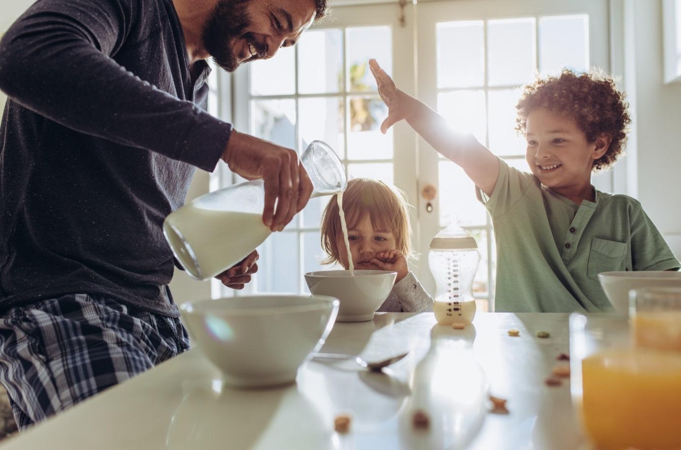 La mattina preoccupati solo del latte da portare in tavola