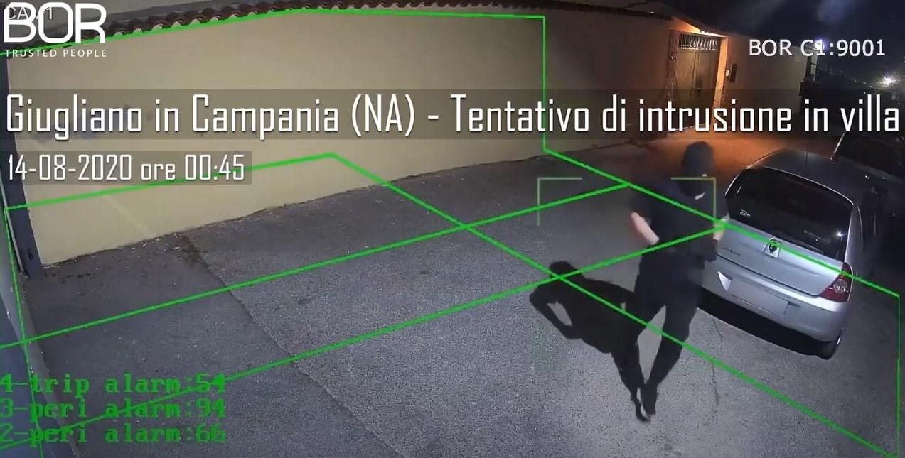 Giugliano in Campania (NA), malintenzionato allontanato in live grazie al SISTEMA BOR