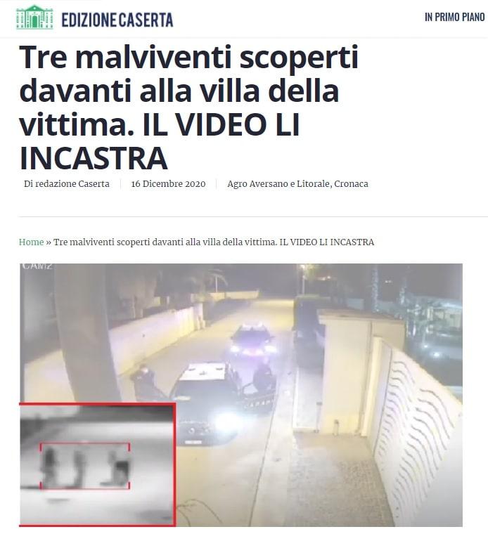 Il furto sventato a Casapesenna è nella cronaca di EdizioneCaserta!
