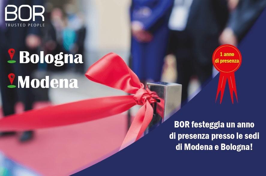BOR celebra un anno di presenza a Modena e Bologna!