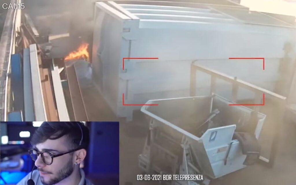 Principio di incendio rilevato nella zona industriale di Acerra dal Custode Virtuale BOR