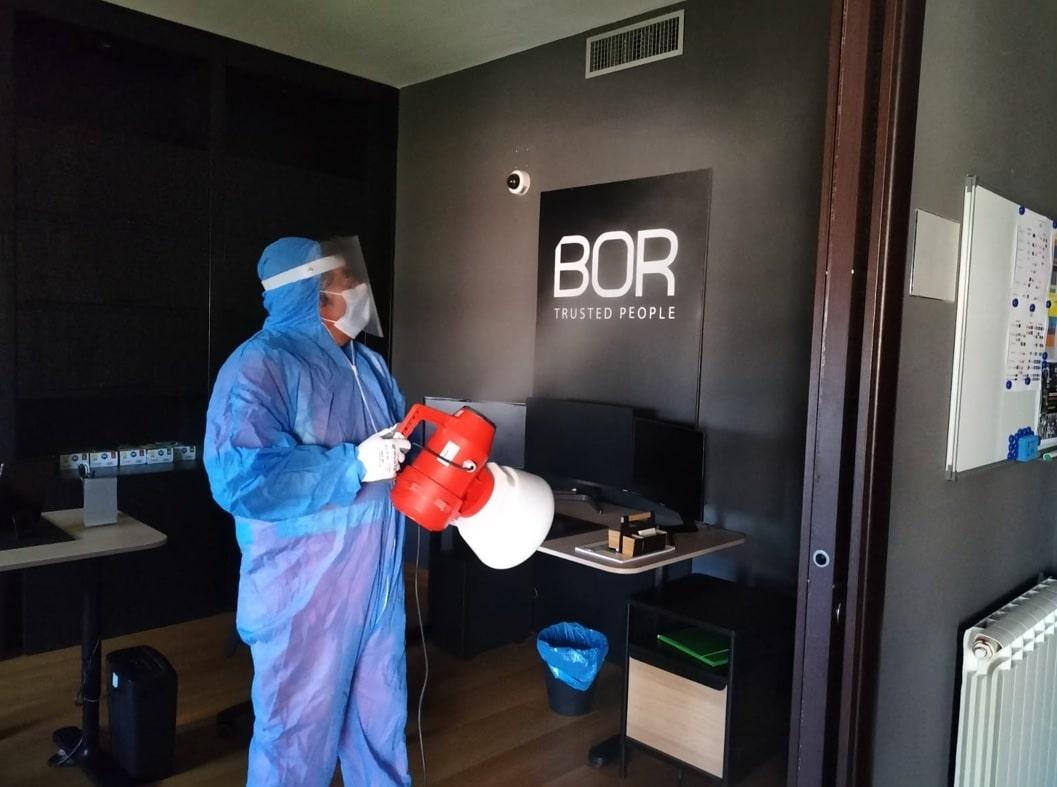 Sanificazione degli uffici aziendali BOR